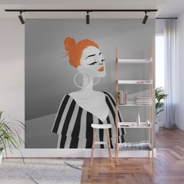 RED HAIRED GIRL Wall Mural