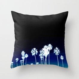White Palm Trees Throw Pillow