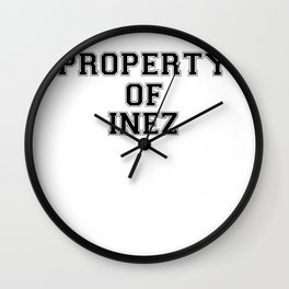 Property of INEZ Wall Clock