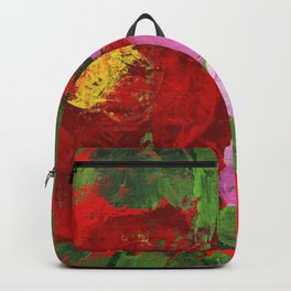 Red and Pink Peonies Backpack