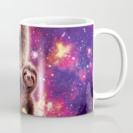 Space Cat Llama Sloth Riding Taco Coffee Mug