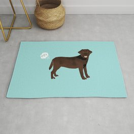 Chocolate Lab funny fart dog breed gifts labrador retrievers Rug