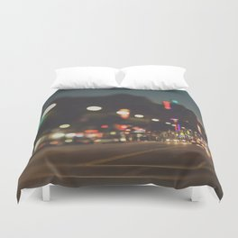 Hollywood Boulevard. Los Angeles Duvet Cover