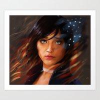 bioshock infinite Art Prints featuring Broken Skies - Bioshock Infinite by AlexRusso
