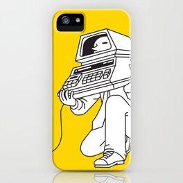 Computer head iPhone Case