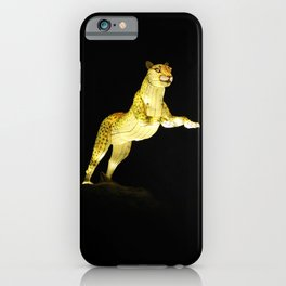 Christmas At The Living Desert Zoo - Cheetah Pounce iPhone Case