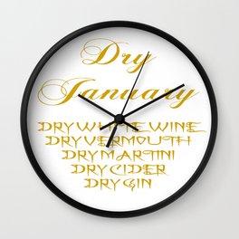 Dry January Allowed Drinks List Wall Clock