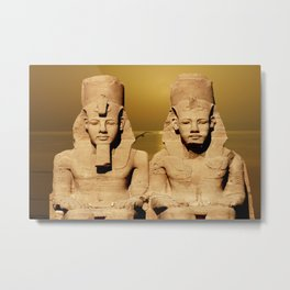 Ramesses and Nefertari Metal Print