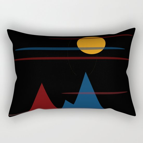 Moon Over The Mountains #3 Rectangular Pillow