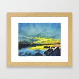 Dore Lake Framed Art Print