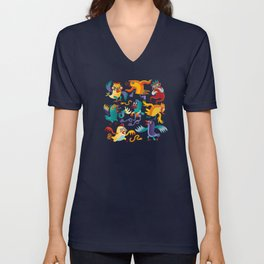 Noisy Birds Unisex V-Neck