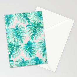 Paradise Palms Blush Stationery Cards