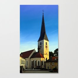 The village church of Zwettl a.d. Rodl   architectural photography Canvas Print
