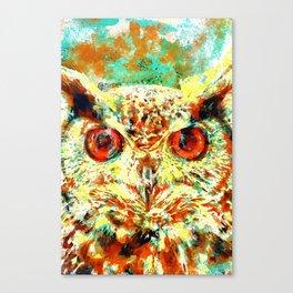 Watercolor Owl Canvas Print