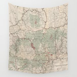 Vintage White Mountains National Forest Map (1931) Wall Tapestry