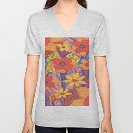 Sunshine and Wildflowers Unisex V-Neck