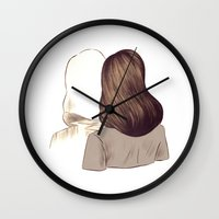 portal Wall Clocks featuring Portal by Isabel Seliger