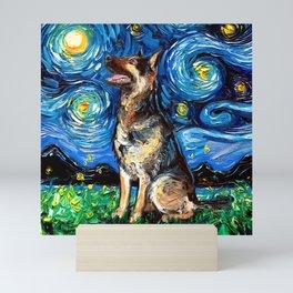 German Shepherd Night 2 Mini Art Print