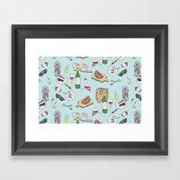 messy picnic Framed Art Print