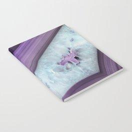 Purple Agate Slice Notebook