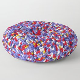 Knitted multicolor pattern 2 Floor Pillow
