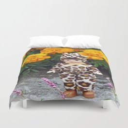 Little Leopard Girl Duvet Cover