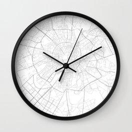 Moscow, Russia Minimalist Map Wall Clock