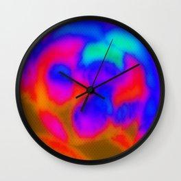 Agate Afire Wall Clock