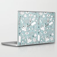 old school Laptop & iPad Skins featuring Old School by naidl