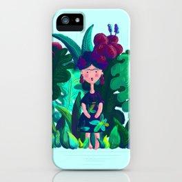 Floral Jungle Frida Kahlo Colorful Illustratration iPhone Case