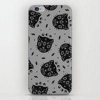 black cat iPhone & iPod Skins featuring BLACK CAT by LordofMasks