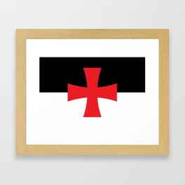 Knights Templar Flag - High Quality Framed Art Print