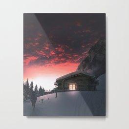 Finland cozy cabin retreat Metal Print