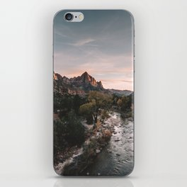 Zion Sunset iPhone Skin