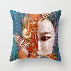 Mermaid Mystery Throw Pillow