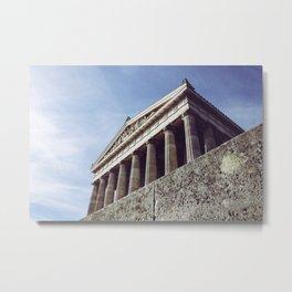 Columns structure in Parthenon Athens Greece Metal Print