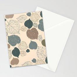 Tossed Linden Leaves Stationery Cards