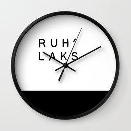 ruh'laks (Relax) Wall Clock