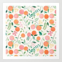 Vanilla Peaches Art Print