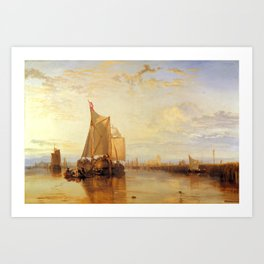 "J.M.W. Turner ""The Dort Packet-Boat from Rotterdam Becalmed"" Art Print"