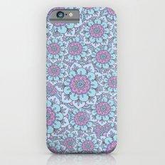 Blue floral iPhone 6s Slim Case