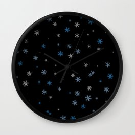 Snowy Blues | Veronica Nagorny Wall Clock