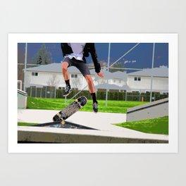 Missed Opportunity  - Skateboarder Art Print