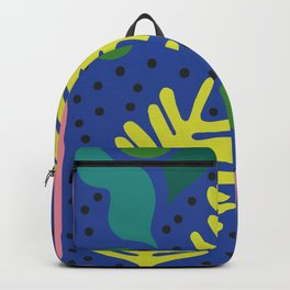 Acid Yellow Palm Cut-Out Backpack