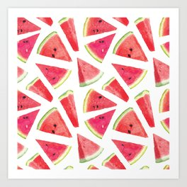 Watermelon Pattern Creation 2 Art Print