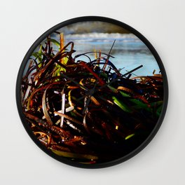 Sea Grass on the Beach Wall Clock