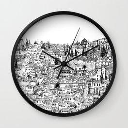 Albaicin View from the Alhambra, Granada, Spain Wall Clock