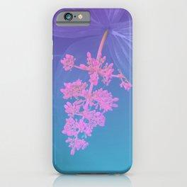 Vibrant Tropical Flower - Glitch Effect Composition iPhone Case
