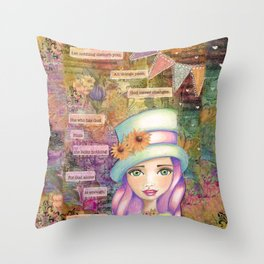 Let Nothing Disturb You Throw Pillow
