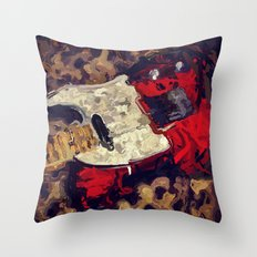 Abstract Tele Oil Painting Throw Pillow